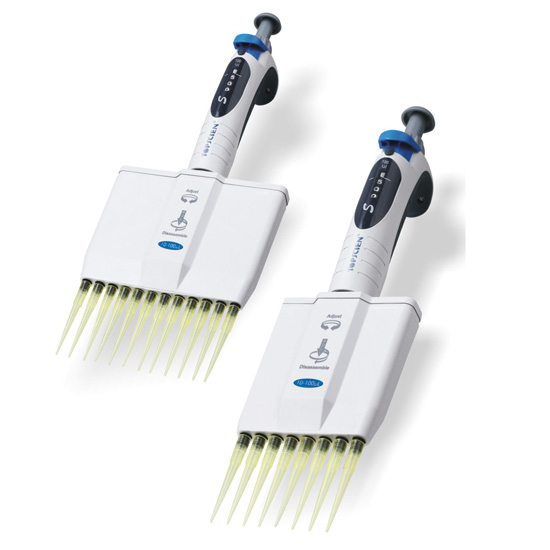 S Series Multichannel Variable Volume Micropipettes